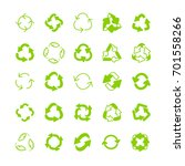 recycling ecology thin line...   Shutterstock .eps vector #701558266