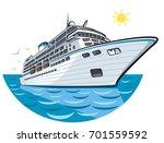 illustration of big ocean liner ... | Shutterstock .eps vector #701559592