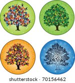 four seasons   trees in spring  ... | Shutterstock .eps vector #70156462