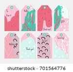 hand drawn creative tags.... | Shutterstock .eps vector #701564776