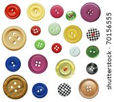 buttons in the collection of... | Shutterstock . vector #70156555