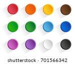 set round multi colored buttons ...   Shutterstock . vector #701566342
