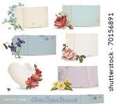 vector set  floral paper... | Shutterstock .eps vector #70156891