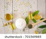 organic skincare cream mock up... | Shutterstock . vector #701569885