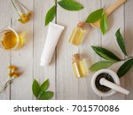 organic skincare tube mock up... | Shutterstock . vector #701570086
