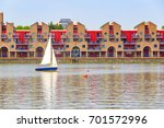 dockside apartments at shadwell ... | Shutterstock . vector #701572996