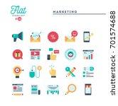 digital marketing  online... | Shutterstock .eps vector #701574688
