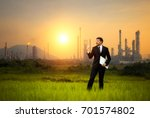 businessman standing at the... | Shutterstock . vector #701574802