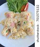 thai food  thai cuisine  fried... | Shutterstock . vector #701575132
