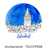 vector illustration istanbul... | Shutterstock .eps vector #701579908