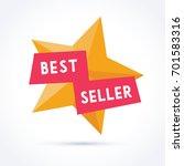 best seller with star... | Shutterstock .eps vector #701583316