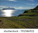 nordic natural landscape  faroe ... | Shutterstock . vector #701586922