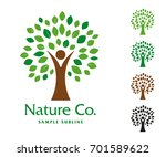 nature symbol. vector company... | Shutterstock .eps vector #701589622