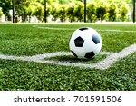 soccer football on corner kick...   Shutterstock . vector #701591506