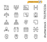 business thin icons. editable... | Shutterstock .eps vector #701592226