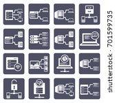 database server icon set vector | Shutterstock .eps vector #701599735