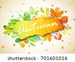 autumn season banner  poster.... | Shutterstock .eps vector #701601016