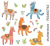 vector set of characters. 5... | Shutterstock .eps vector #701602762