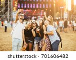 friends drinking beer and... | Shutterstock . vector #701606482