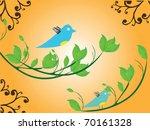 bird flyer | Shutterstock .eps vector #70161328