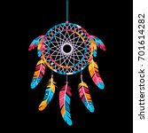 dream catcher  isolated on a...   Shutterstock . vector #701614282
