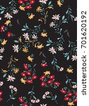 seamless floral pattern with... | Shutterstock .eps vector #701620192