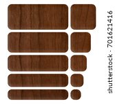 dark brown wood style set of... | Shutterstock . vector #701621416