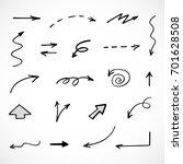 hand drawn arrows  vector set   Shutterstock .eps vector #701628508
