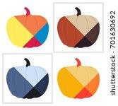 halloween pumpkin theme art... | Shutterstock .eps vector #701630692