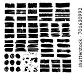 set of abstract vector brush... | Shutterstock .eps vector #701630992