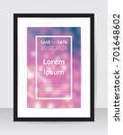 save the date poster template... | Shutterstock .eps vector #701648602