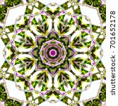 colorful kaleidoscopic pattern... | Shutterstock . vector #701652178