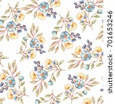 seamless vector floral pattern  ... | Shutterstock .eps vector #701653246