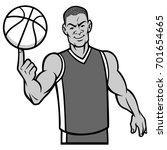 basketball player spinning ball ...   Shutterstock .eps vector #701654665