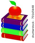 illustration pile books and... | Shutterstock . vector #70165648