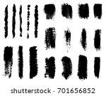 set of paint brush strokes... | Shutterstock .eps vector #701656852