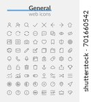 outline web icons set of... | Shutterstock .eps vector #701660542