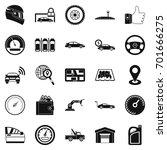 car park icons set. simple set... | Shutterstock .eps vector #701666275