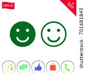 smile icon. happy face symbol... | Shutterstock .eps vector #701681845