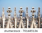 duomo gothic cathedral of milan ... | Shutterstock . vector #701685136