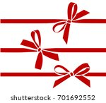 vector bow with horizontal... | Shutterstock .eps vector #701692552