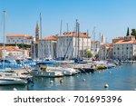 marina of piran  slovenia | Shutterstock . vector #701695396