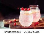 sparkling pink raspberry... | Shutterstock . vector #701695606