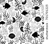 seamless pattern with tropical... | Shutterstock .eps vector #701701225