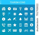 tourism bold linear icons   Shutterstock .eps vector #701703022