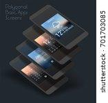 basic app mobile ui smartphone...