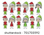 vector collection of christmas... | Shutterstock .eps vector #701703592