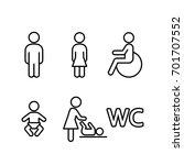 wc restroom toilet line black...   Shutterstock .eps vector #701707552
