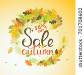 sales banner with multicolor... | Shutterstock .eps vector #701708602