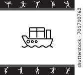 web line icon. cargo ship | Shutterstock .eps vector #701710762